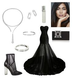 """""""contest: Diamond in the night"""" by dtlpinn on Polyvore featuring Steve Madden, Vintage, KC Designs, Suzanne Kalan, Yeprem, Manolo Blahnik and Elizabeth Taylor"""