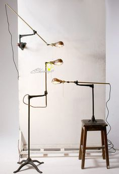 Handmade Antique Copper Table Lamp in Copper Finish industrial-floor-lamps