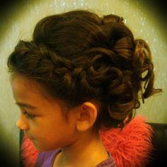 Flower Girl Updo- Olivia's hair for my sister's wedding.