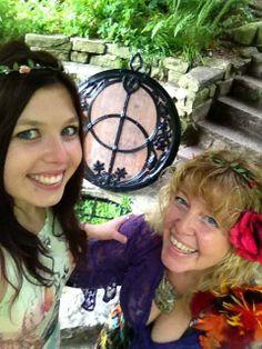 Cheralyn & Maddison Darcey  Chalice Well, July 2013