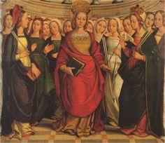 Santa Ursula y las once mil vírgenes, Juan de Borgoña, 1530, Museo de las Úrsula, Salamanca (detalle)