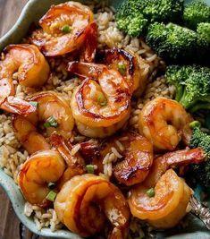 scampi's recept gemakkelijk Shrimp Recipes Easy, Fish Recipes, Seafood Recipes, Asian Recipes, Dinner Recipes, Cooking Recipes, Healthy Recipes, Shrimp Rice Bowl Recipe, Garlic Shrimp Recipes