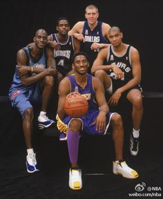 A great group of players, look at how young they are here! Kevin Garnett, Chris Webber, Dirk Nowitzki, Tim Duncan, Kobe Bryant.