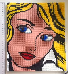 Roy Lichtenstein girl Hama Beads by MadebyBlackSheep