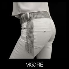 Jean Belt made from Stainless Steel Chainmaille  http://isabelmoore.com/products/jean-belt