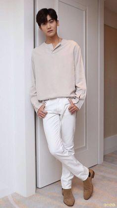 Korean Fashion – Designer Fashion Tips Korean Fashion Summer Casual, Korean Fashion Men, Winter Fashion Casual, Korean Street Fashion, Emo Fashion, Park Hyung Sik, Yongin, Asian Actors, Korean Actors