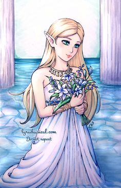 BouquetOkay, but how about Link gathering flowers for Zelda in hopes of making her feel better after another fruitless day of praying. Zelda: Thank you! These will make fine specimens for my research. Link: …………..