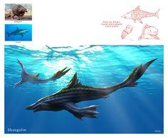 ArtStation - Creature Mashup (with Edwin ten Wolde) - Shangolin, Midhat Kapetanovic Curious Creatures, Alien Creatures, Magical Creatures, Sea Creatures, Alien Concept Art, Creature Concept Art, Creature Feature, Creature Design, Arte Peculiar