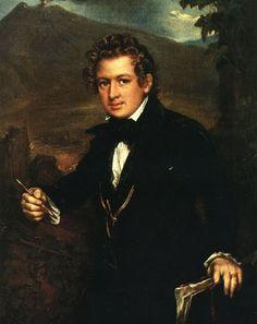 Василий Андреевич Тропинин.  Портрет К. П. Брюллова.  1836.