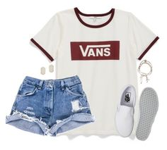 """vans"" by kaley-ii ❤ liked on Polyvore featuring Vans, Astley Clarke and Kendra Scott"