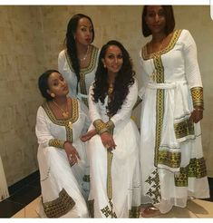Ethiopian Traditional Dress, Traditional African Clothing, Traditional Dresses, Habesha Kemis, Ethiopian Wedding, Ethiopian Dress, African Wedding Attire, Modest Dresses, African Dress