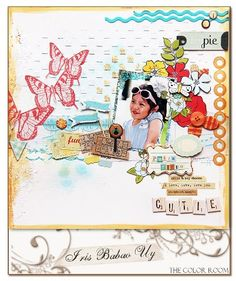 #papercraft #scrapbook #layout via The Color Room - Home