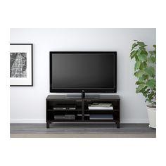 BESTÅ TV unit, black-brown black-brown - 47 1/4x15 3/4x18 7/8