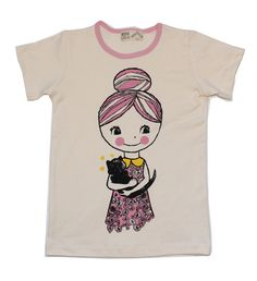 Soft organic cotton screened with an original drawing of Misha. Misha Lulu uses quality fabrics and is made in the U.S.A.