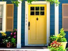 Happy yellow door! (Decisive Yellow, Sherwin Williams)