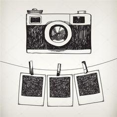 Descargar - Marcos de foto y cámara — Ilustración de stock #79718626