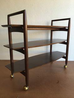 T.H. #Robsjohn-Gibbings #Trolley #Bar #Cart #Midcentury #Modern #Vintage #Design #Furniture #DenMøbler #Danish