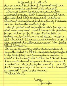 A Beautiful Letter 3/3 :)