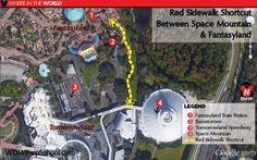 4 shortcut paths at Disney World