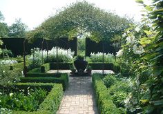 Boxwood hedges at Sissinghurst.