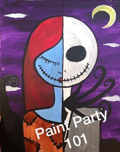 RA Sushi Paint Sip and Sushi Halloween Canvas Paintings, Simple Canvas Paintings, Cool Paintings, Christmas Canvas Art, Fall Canvas, Christmas Paintings, Autumn Painting, Diy Painting, Girl Night