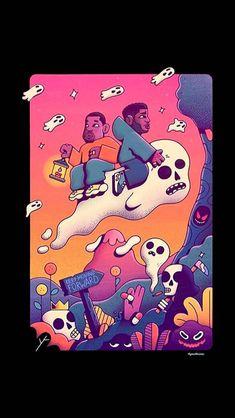 KIDS SEE GHOST!! Dope Wallpaper Iphone, Dope Wallpapers, Aesthetic Desktop Wallpaper, Black Cartoon Characters, Cartoon Icons, Cartoon Art Styles, Kid Cudi Wallpaper, Rap Wallpaper, Arte Hip Hop