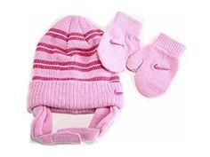 3812e62e4e563 Nike Toddler Girl s 2 4T Trapper Beanie Hat   Mittens Set (Pink)Children s  Fashion  accesories  childrensclothing  children  childrenswear