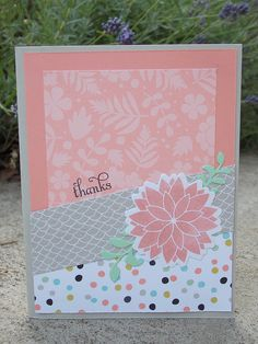 Handmade card by Julie S. using the Be Blessed set from Verve. #vervestamps