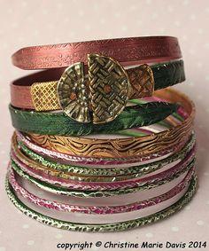 NEW... Pink and GREEN boho GYPSY bangle stack by ChristinesCabinet, $84.00 Boho Green, Pink And Green, Gypsy Style, Boho Gypsy, Cuff Bracelets, Bangles, Bracelet Making, Buttons, Knitting