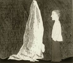 'THE SEXTON DISGUISED AS A GHOST' FROM ILLUSTRATIONS FOR SIX FAIRY TALES FROM THE BROTHERS GRIMM 1969, David Hockney