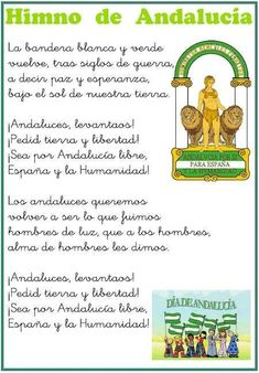 "Recursos para conmemorar el día de Andalucía. ""2º curso de Primaria"" Spain Holidays, Andalusia, Spain Travel, Malaga, Granada, Best Hotels, Trip Planning, How To Plan, Happy"