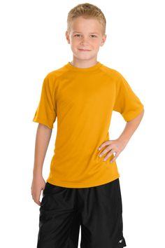 Sport-Tek Youth Dry Zone Raglan T-Shirt Y473 Gold