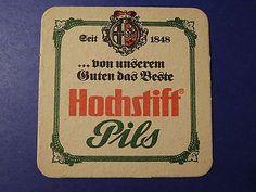 Beer Coaster Mat ~*~ Pils Brewed by Hochstiftliches Brauhaus ~*~ Fulda, GERMANY