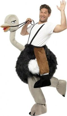 Hilarious Ostrich Fancy Dress Costume from the party animal range. Browse our Animal Costumes, Ostrich Costumes & Emu Costumes for same day dispatch. Group Halloween Costumes, Christmas Costumes, Halloween Kostüm, Cool Costumes, Adult Costumes, Costume Ideas, Carry Me Kostüm, Ostrich Costumes, Legs