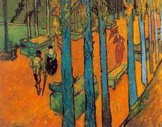 Vincent Van Gogh painting: Les Alyscamps: Falling Autumn Leaves