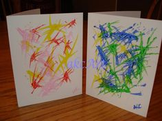 Hand Painted Notecards  No 16 by akcArt on Etsy, $12.00