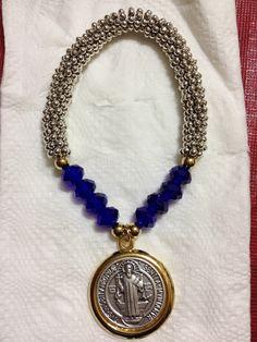 Pulsera medalla San Benito