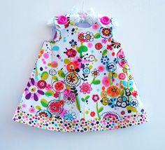 Larkpur Meadow - Handmade Baby Toddler Girls Dress - Aline Pattern - Infant Dress - SunDress - Children Clothing -