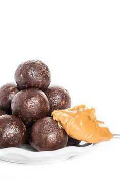 These rich and fudgy chocolate peanut butter energy bites are perfect for on-the-go snacking!