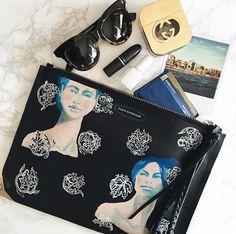 Wear art as fashion & get your Limited Edition #ElodieBlandaElena Clutch at #ElodieK on #MelrosePlace or at www.elodiek.com. #Illesteva