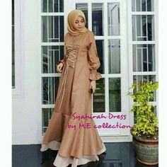 New dress long yellow fit Ideas Abaya Fashion, Modest Fashion, Women's Fashion Dresses, Couture Fashion, Muslim Long Dress, Dress Long, Trendy Dresses, Nice Dresses, Moslem Fashion