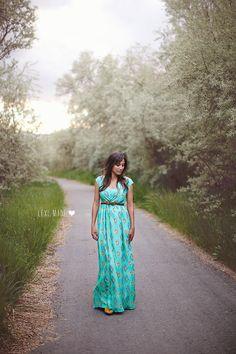DIY chiffon maxi dress by Lexi Made using Cotton and Curls tutorial