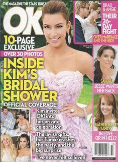 OK magazine Kim Kardashian Angelina Jolie Brad Pitt Sandra Bullock Bachelorette