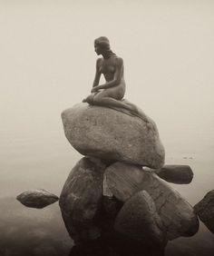 The Little Mermaid statue in Copenhagen, Denmark by Edvard Eriksen, 1913
