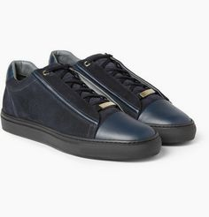 Low-Top, High-Brow: Brioni Slam Suede and Leather #Sneakers #Shoeography