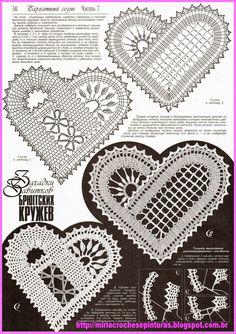 irish crochet motifs View album on Crochet Motif Patterns, Bobbin Lace Patterns, Crochet Chart, Crochet Squares, Heart Patterns, Freeform Crochet, Thread Crochet, Crochet Lace, Crochet Hooks