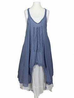 Damen Lagenlook Kleid 2-tlg., blau von Z 4 bei www.meinkleidchen.de