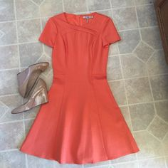 Halston Heritage Dress Stunning dress in orange. I purchased from another posher and have never worn it. In perfect condition. Halston Heritage Dresses