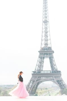 PINK MAXI TULLE SKIRT {PARIS}
