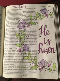 Bible Journaling. Mark 16:6 free template from Lindsey Decor